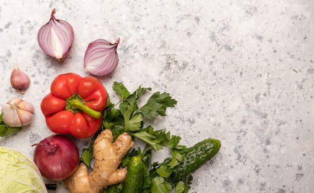 Сырые овощи и вегетарианская диета