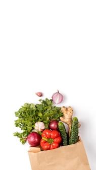 コンセプトゼロ廃棄物、環境に優しい、野菜、エコ