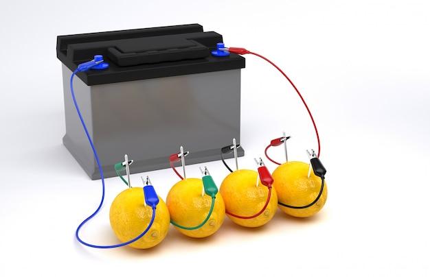 レモン電池からの電気