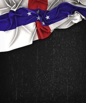 オランダ領アンティル諸島の旗ヴィンテージグランジの黒の黒板