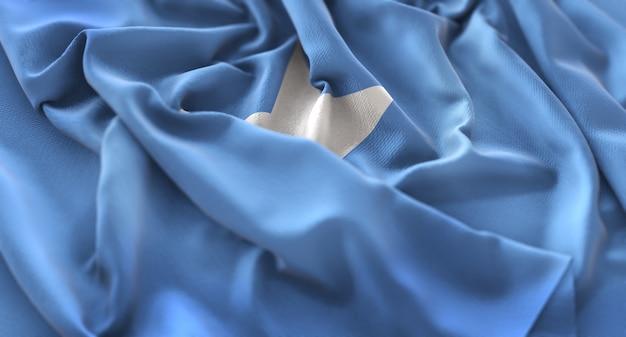 ソマリアの旗が美しく包まれてマクロ接写