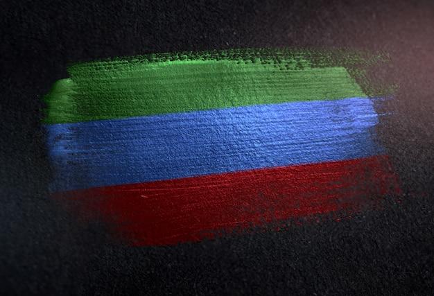 グレッグダークウォールのメタリックブラシペイントで作られたダゲスタンの国旗