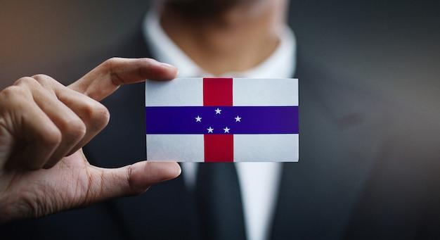 オランダ領アンティル諸島の旗の実業家保有カード