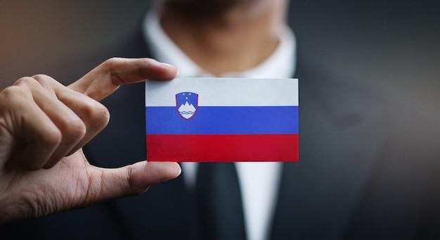 スロベニアの国旗の実業家保有カード