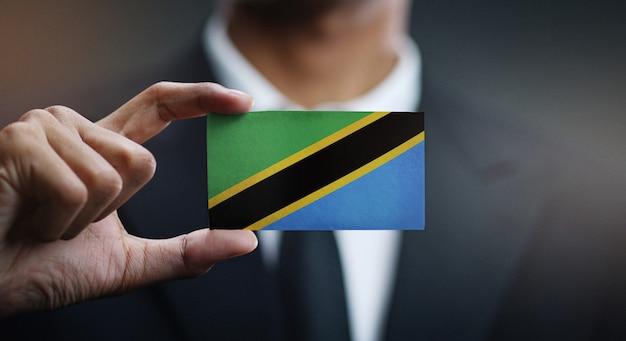 タンザニアの旗の実業家保有カード