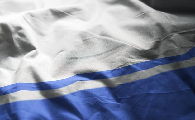 アルタイ共和国の国旗のしわくちゃのクローズアップ