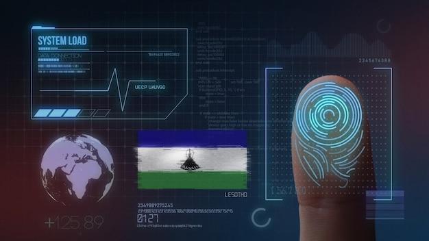 Биометрическая система идентификации отпечатков пальцев. национальность лесото