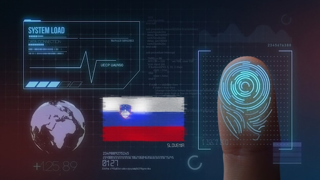 指紋バイオメトリック走査識別システムスロベニア国籍