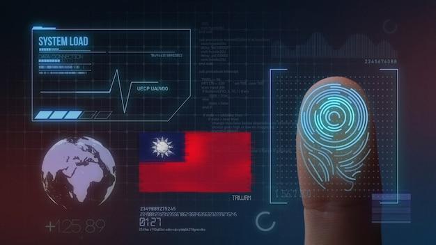 Биометрическая система идентификации отпечатков пальцев. национальность тайвань