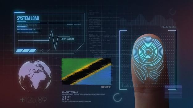 指紋バイオメトリック走査識別システムタンザニア国籍