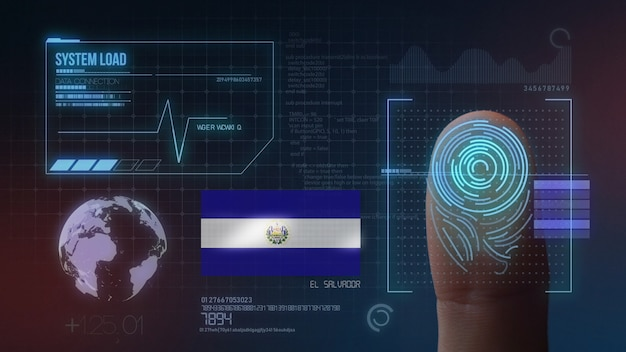 指紋バイオメトリック走査識別システムエルサルバドル国籍