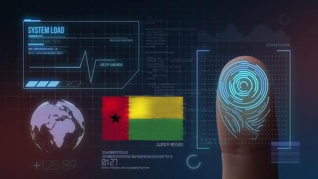 指紋バイオメトリック走査識別システムギニアビサウ国籍
