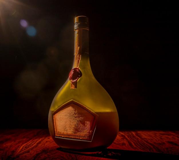 低照度での酒瓶