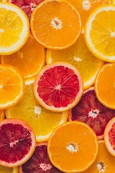 Сочный апельсин, грейпфруты и лимоны