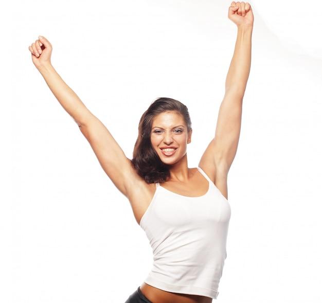 Счастливые танцы фитнеса.