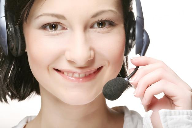Веселая поддержка телефонного оператора