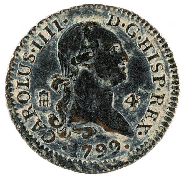 カルロス王の古代スペインの銅貨