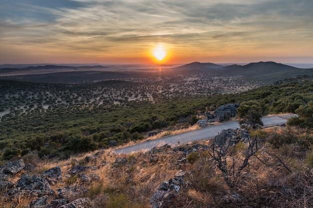 リスコからの夕日の風景。