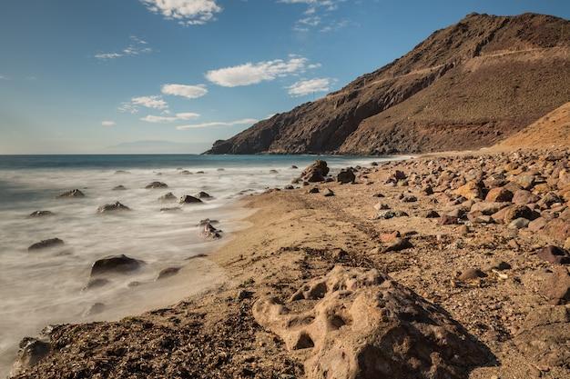 コラレテビーチ。カボデガタの自然公園。スペイン。