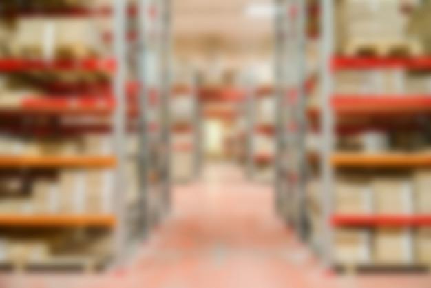 大きな近代的な倉庫のテーマのぼかしの背景