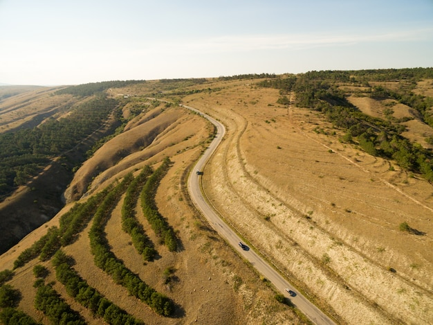 クリミアの空中風景
