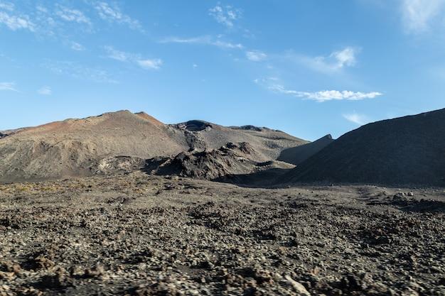 スペインのランサローテ島の火山の風景