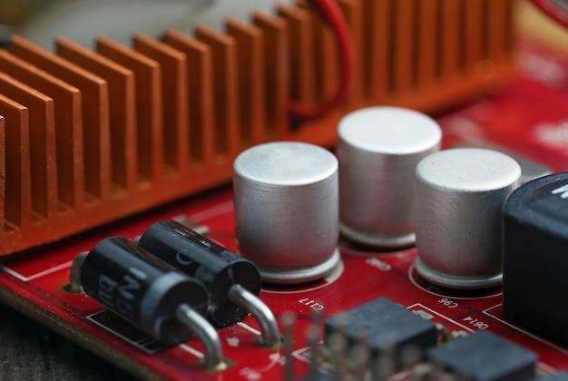 技術電子コンピュータのマザーボード