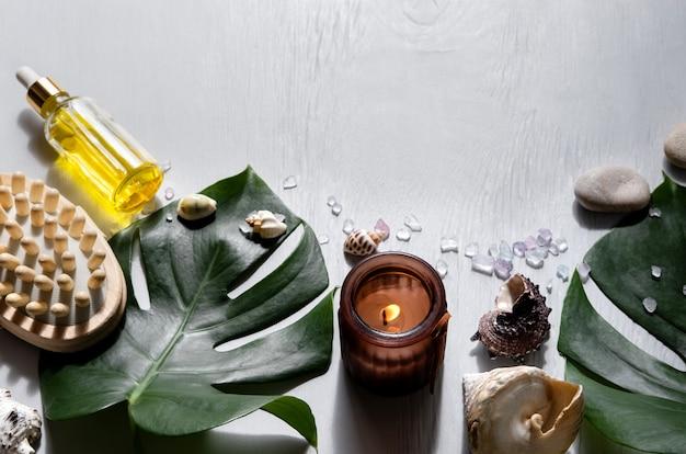スパ化粧品と環境に優しいバスルームアクセサリー