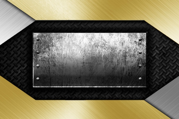 Современный металлический каркас фона шаблона