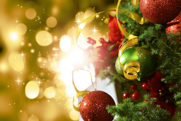 グローとクリスマスの背景
