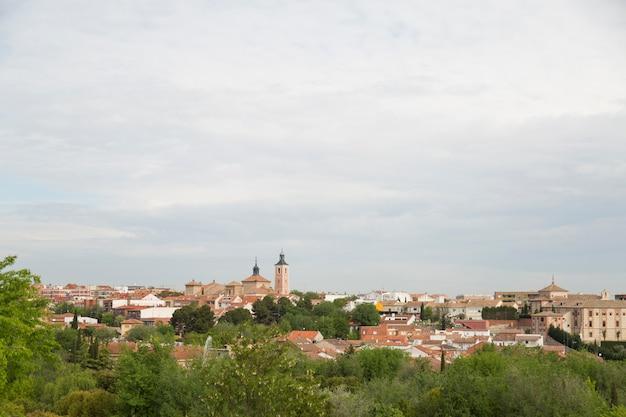 スペイン、マドリッド市の町のパノラマビュー