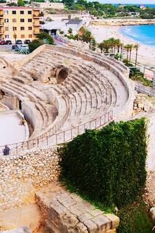 タラゴナのローマ円形劇場の破損