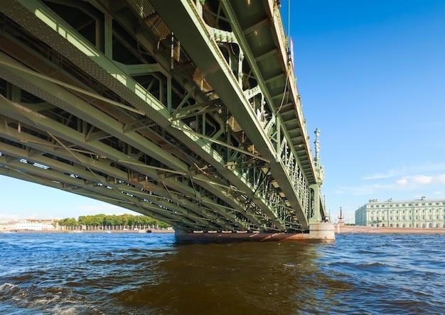 サンクトペテルブルクの眺め。トリニティブリッジ