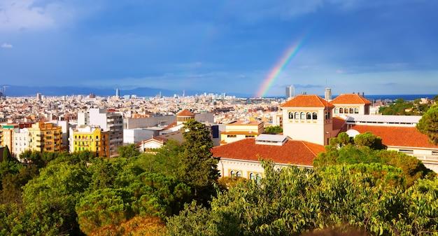 Барселона от национального дворца монтжуик
