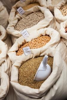 レンズ豆とひよこ豆