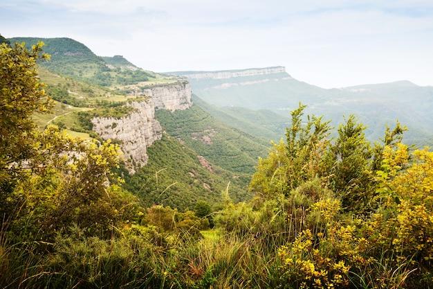 カタロニアの山の風景。コルサカブラ