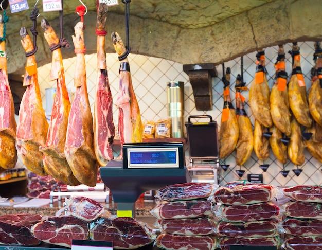スペイン市場でのハモン