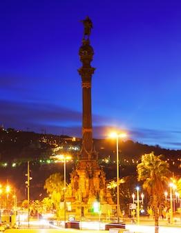コロンブス記念碑。バルセロナ