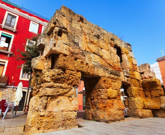 タラゴナのローマの壁の遺跡
