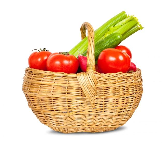 バスケットの野菜