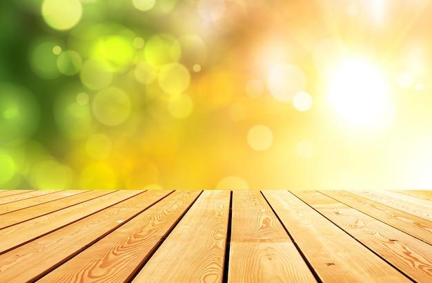 Абстрактный светящийся светлый макет деревянный стол стол доска поверхность