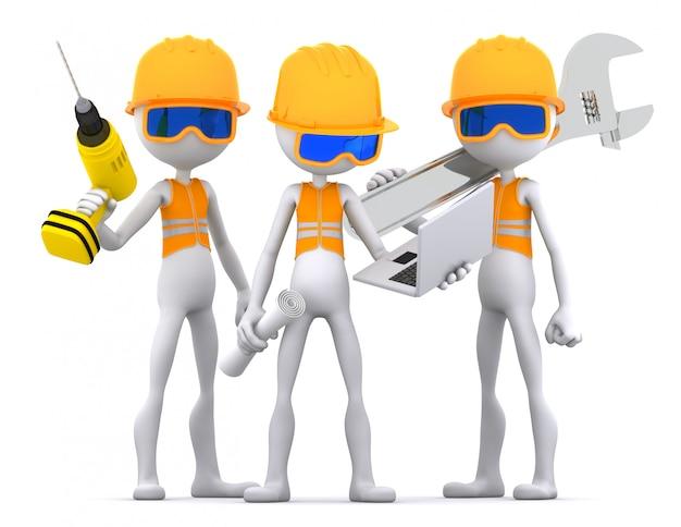 Команда рабочих промышленных подрядчиков