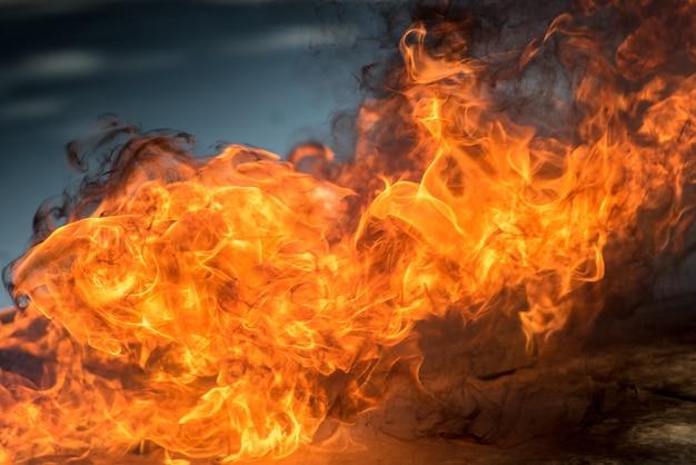 熱い火は炎の熱を示すために点灯し、マンションや都市の住民の最初の消火に使用されました。火災と消防の概要。