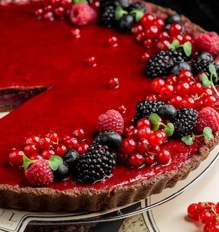 果実とフルーツチーズケーキ