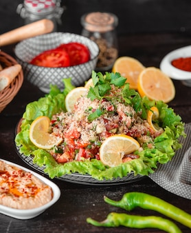 Острый салат из кускуса