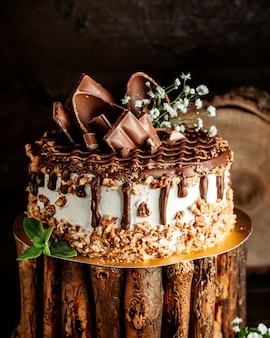 Шоколадный торт с кремовыми орехами и шоколадной пастой