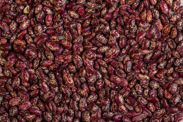 赤い斑点インゲン豆上面の背景