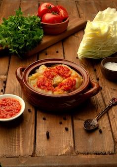 キャベツのトマトソース煮