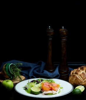 ハーブとリンゴのサーモンサラダ