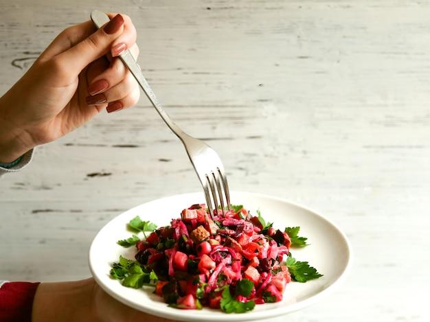 ハーブと野菜のサラダ